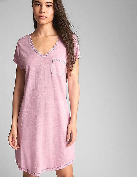 e963ba0c08 Buy Women Short Sleeve Pocket T-Shirt Dress online at NNNOW.com