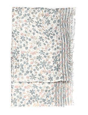 SUGR Sequin Embellished Printed Stole