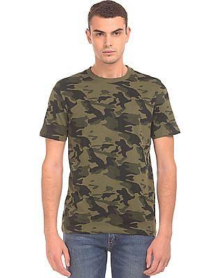 Aeropostale Camouflage Printed Crew Neck T-Shirt