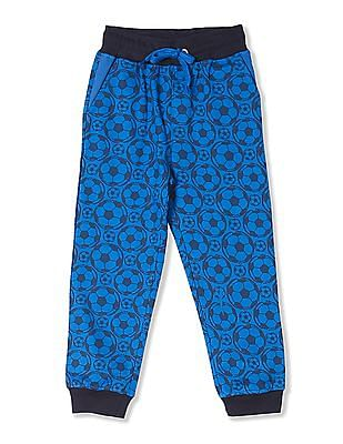 Cherokee Boys Football Print Knit Joggers