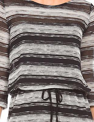 Elle Striped Drop Waist Tunic