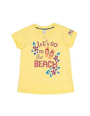 U.S. Polo Assn. Kids Girls Printed Cotton T-Shirt