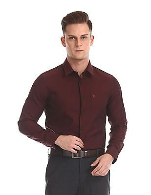 USPA Tailored Long Sleeve French Placket Shirt