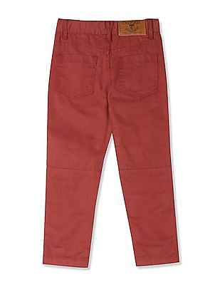 Cherokee Red Boys Slim Fit Distressed Trousers