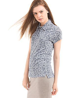 Cherokee Regular Fit Printed Polo Shirt