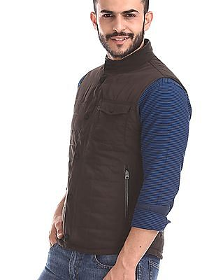 U.S. Polo Assn. Brown And Olive Reversible Gilet Jacket