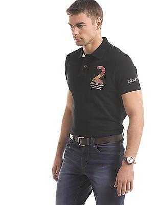 U.S. Polo Assn. Denim Co. Numeric Print Muscle Fit Polo Shirt