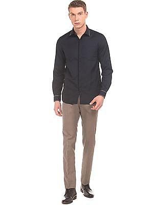 Excalibur Concealed Placket Slim Fit Shirt