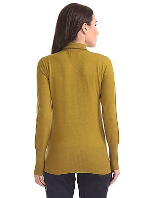 U.S. Polo Assn. Women Turtle Neck Solid Sweater