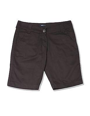 Arrow Woman Regular Fit Solid Shorts