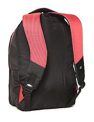 Flying Machine Black Colour Block Laptop Backpack