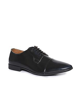 Arrow Cap Toe Patent Leather Shoes