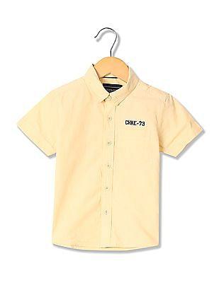 Cherokee Boys Short Sleeve Solid Shirt