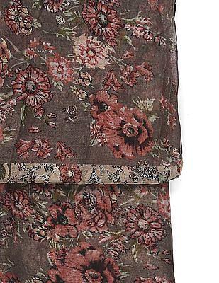 SUGR Multi Colour Floral Print Stole