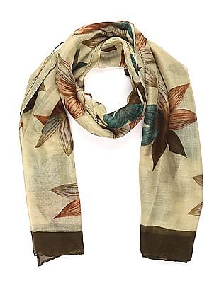 SUGR Green Floral Print Stole
