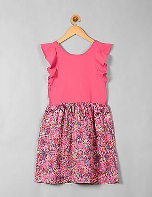GAP Girls Flutter Mix-Fabric Dress
