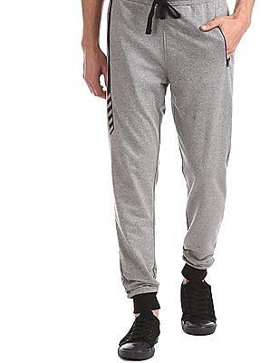 Colt Grey Zip Pocket Patterned Knit Joggers