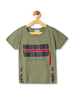 Cherokee Girls Printed Extended Sleeve Top