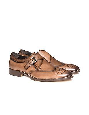 Johnston & Murphy Monk Strap Wingtip Shoes