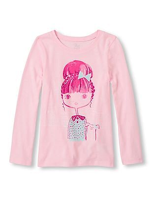 The Children's Place Girls Graphic Printed T-Shirt