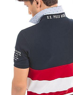 U.S. Polo Assn. Slim Fit Panelled Polo Shirt