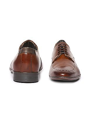 Arrow Pointed Toe Derby Shoes