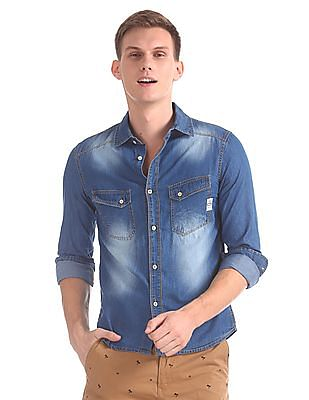Cherokee Washed Chambray Shirt