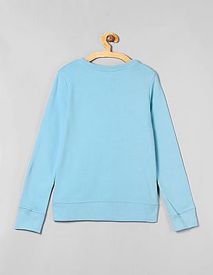 GAP Girls Glitter Print Full Sleeve Sweatshirt