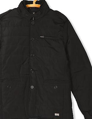 Flying Machine Layered Neck Quilted Jacket