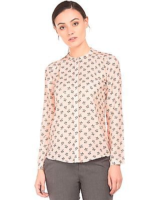Arrow Woman Concealed Placket Printed Shirt