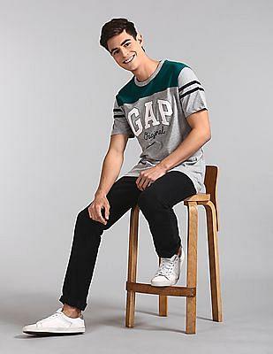 GAP Grey Colour Block Logo T-Shirt