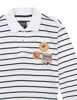 Cherokee Boys Striped Cotton Polo Shirt