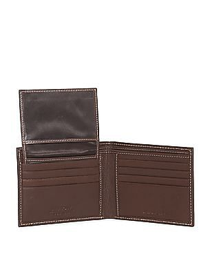 Arrow Sports Brown Contrast Stitch Leather Wallet