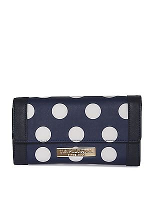 U.S. Polo Assn. Women Polka Dot Print Tri Fold Wallet
