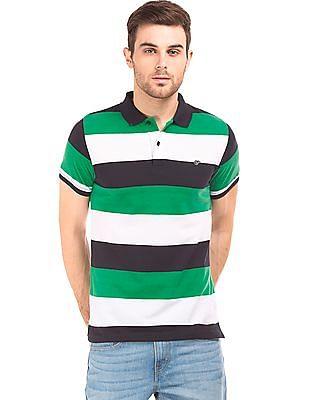 Ruggers Striped Pique Polo Shirt