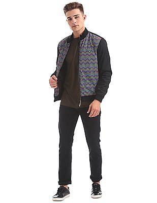 Arrow Sports Zip Up Chevron Print Jacket