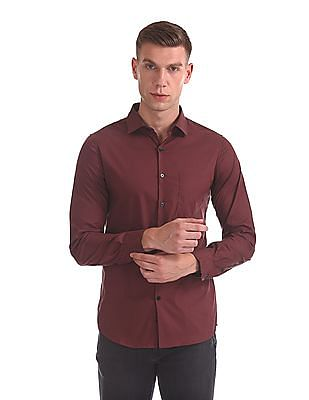 Excalibur Slim Fit French Placket Shirt