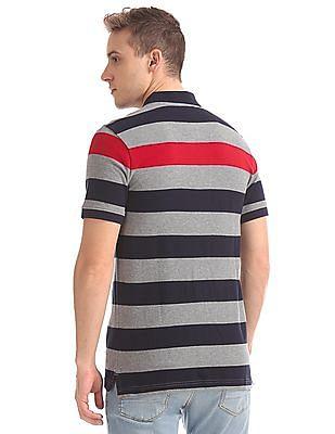 Aeropostale Short Sleeve Striped Polo Shirt