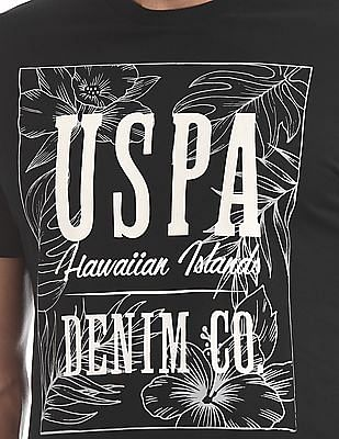 U.S. Polo Assn. Denim Co. Printed Front Crew Neck T-Shirt