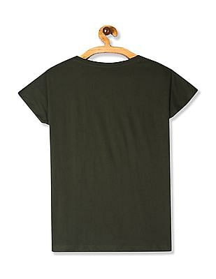 SUGR Green Patch Pocket Cotton T-Shirt
