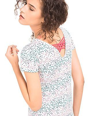 SUGR Polka Print Cotton Top