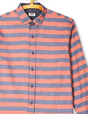Colt Roll Up Sleeve Striped Shirt