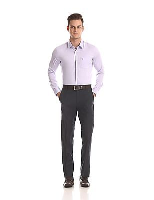 USPA Tailored French Placket Mitered Cuff Shirt