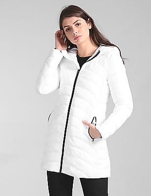 GAP Cold Control Light Weight Hooded Puffer Coat