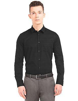 Arrow Newyork Tonal Striped Slim Fit Shirt