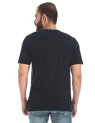 Cherokee Blue Patch Pocket Tipped T-Shirt
