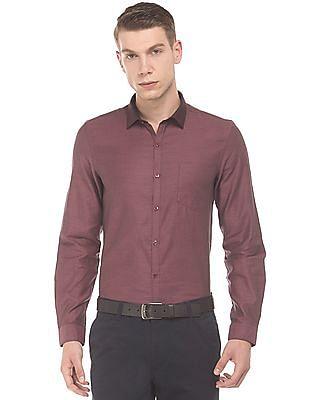 Elitus Contrast Collar Slim Fit Shirt