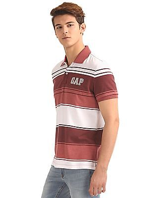 GAP Melange Striped Polo