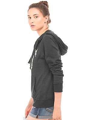 Aeropostale Embroidered Hooded Sweatshirt
