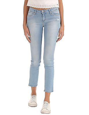 Elle Slim Straight Fit Stone Wash Jeans